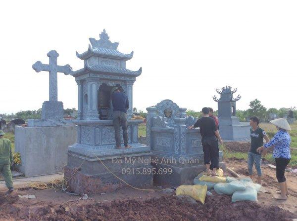 Thi công Lăng Mộ Bố Chú Tuấn ở Vũ Thư – Thái Bình