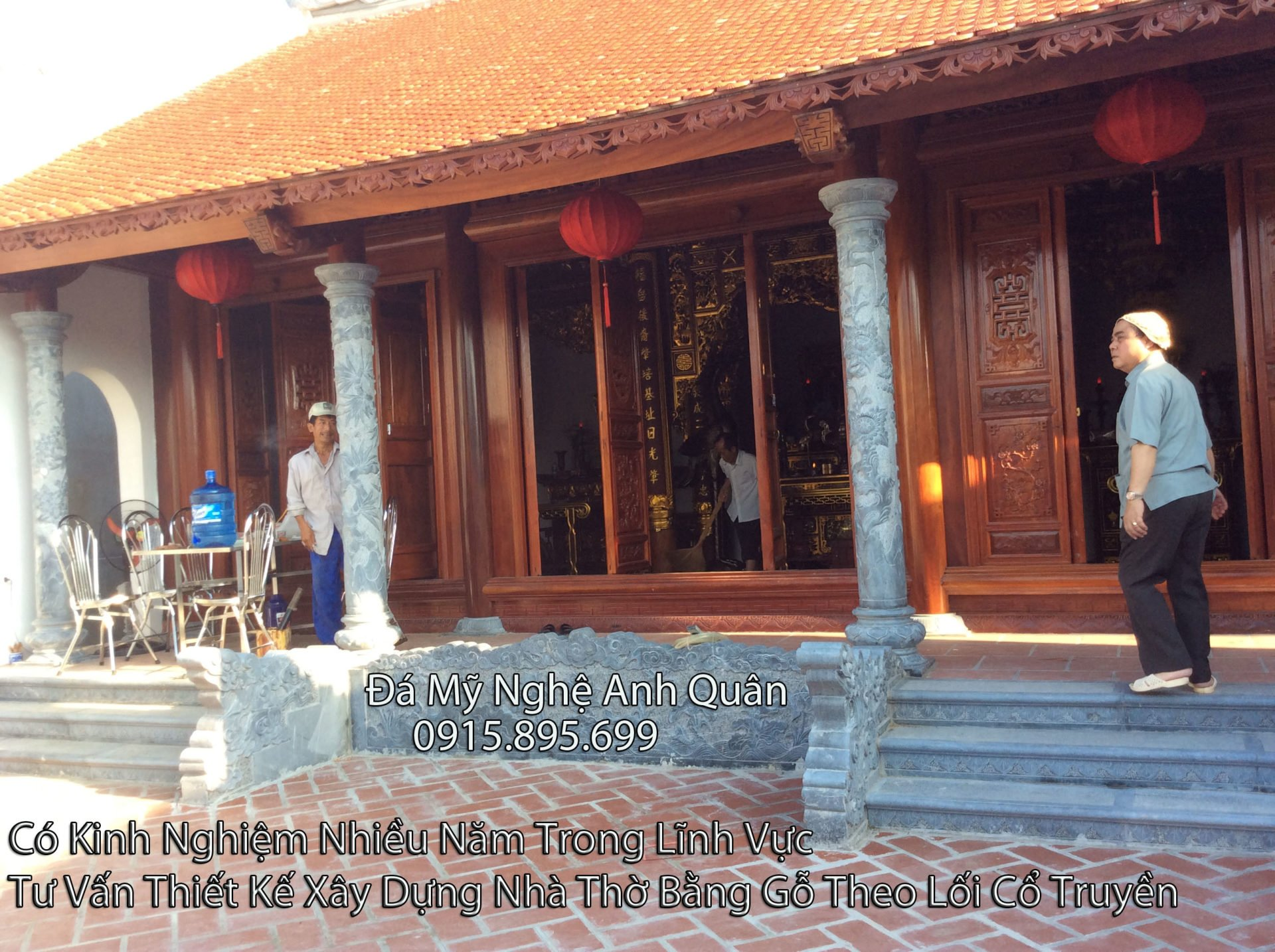 Lam bac tam cap da Bac them da, chế tác, thiết kế bậc tam cấp đá tại Ninh Bình