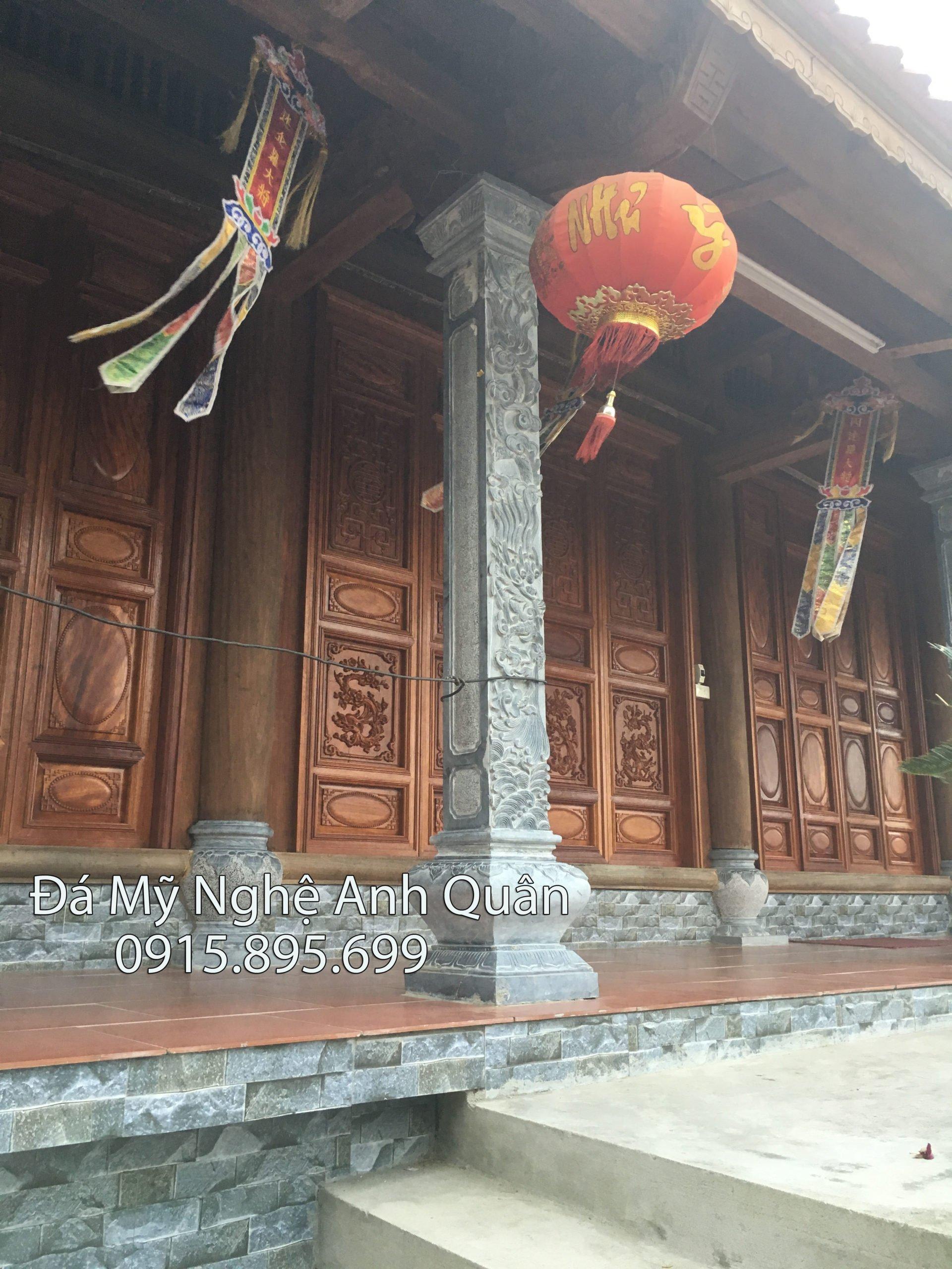 Cột đá làm Nhà thờ gỗ, làm cột đá Nhà thờ gỗ ở Ninh Bình