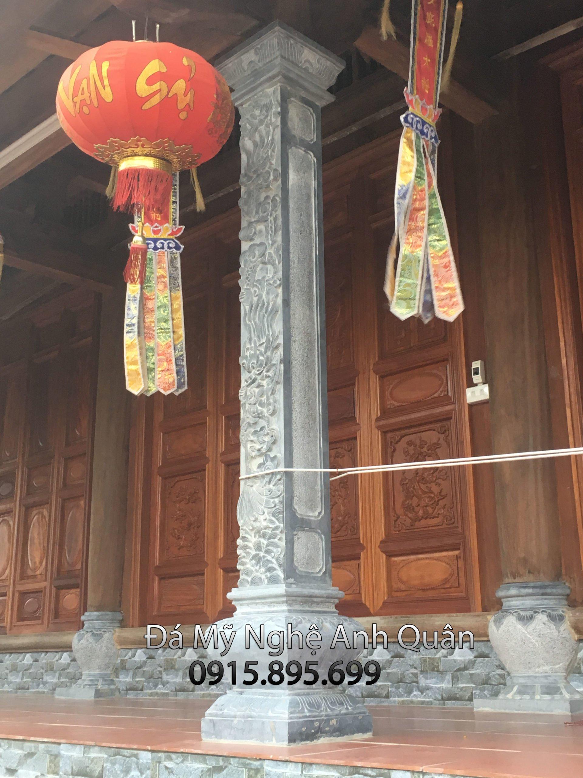 cot da lam nha tho, mẫu cột đá hay làm ở các nhà thờ, đình làng, chùa, điện thờ
