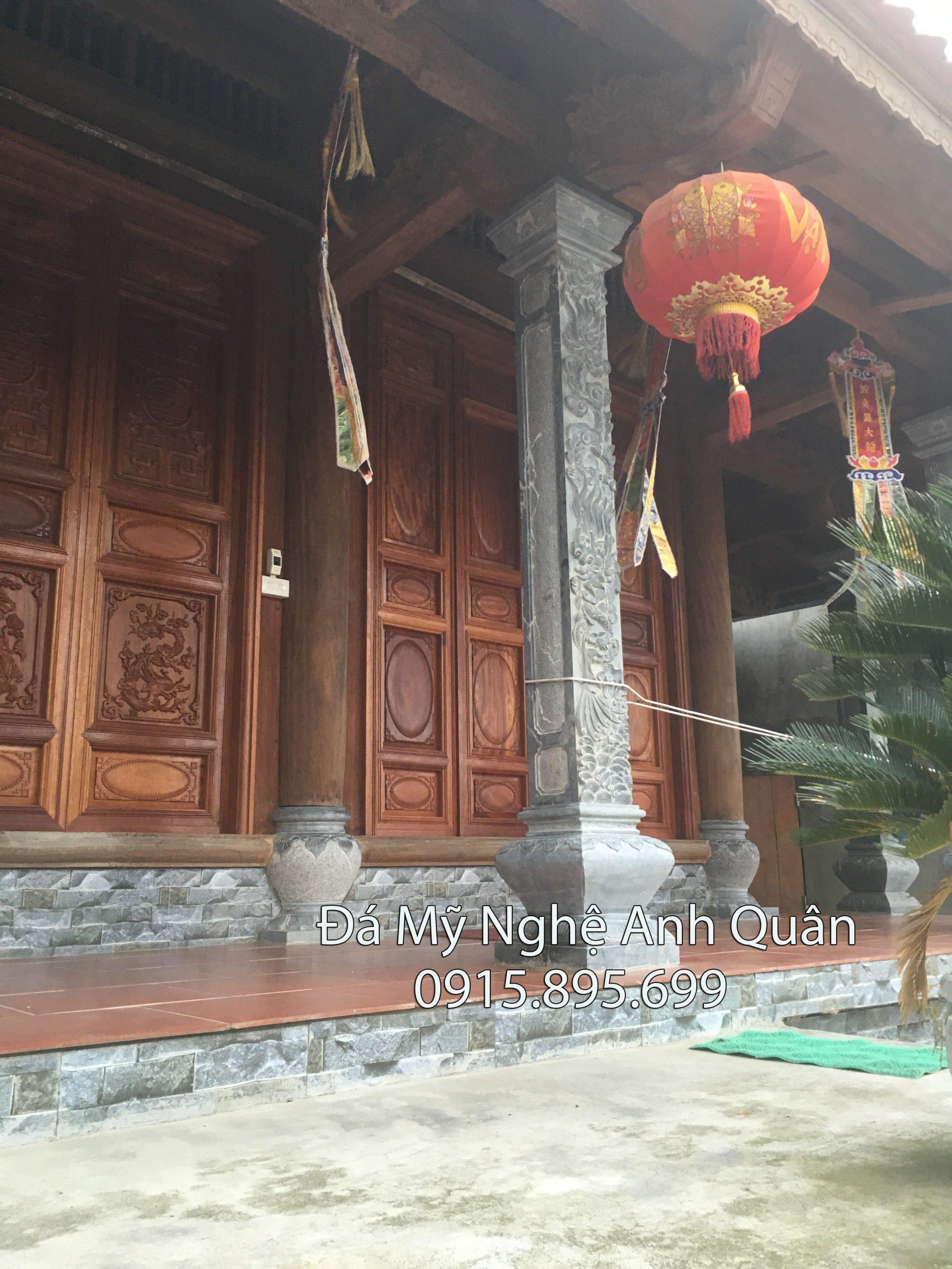 Lam cot bang da, cột trụ đá, mẫu cột trụ đá đẹp làm nhà thờ gỗ