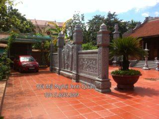 Lắp đặt cột đá nhà thờ gia đình Bác Thành An Dương – Hải Phòng