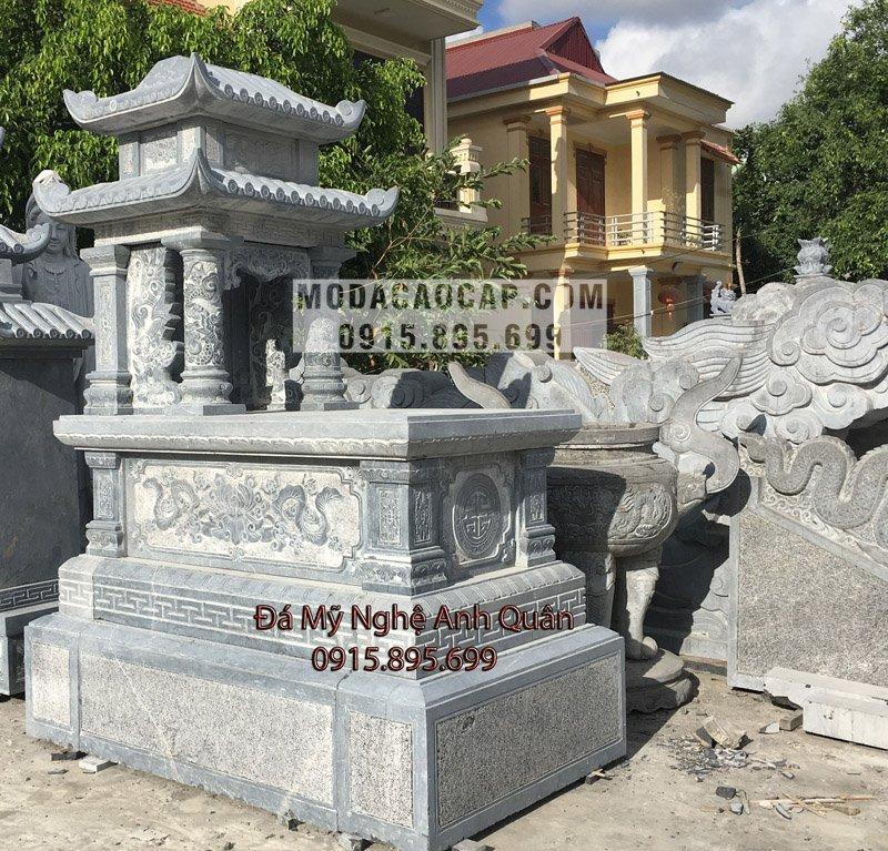 Báo giá mộ đá hai đao (Mộ hai mái đá)