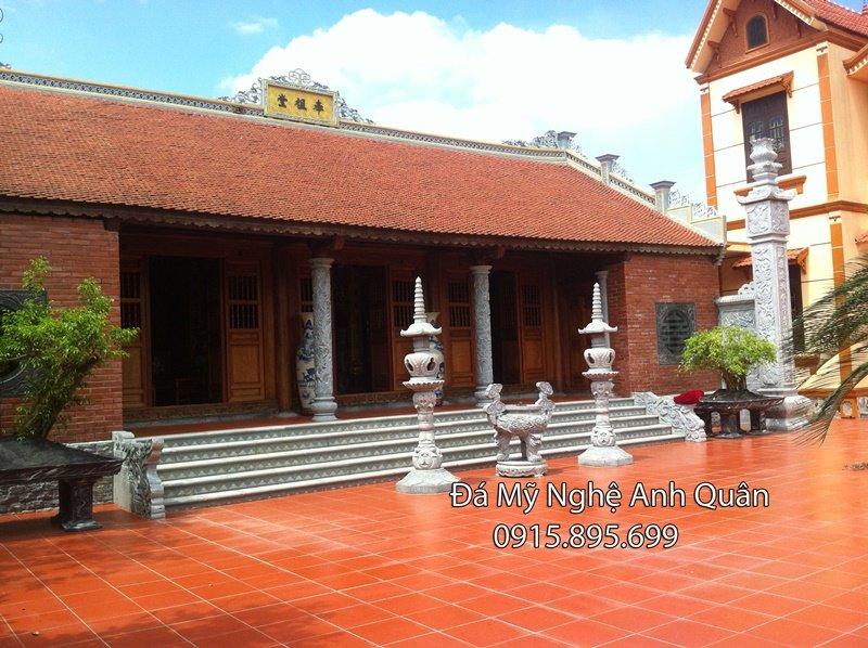 tổng quan lắp đặt cột đá nhà thờ ở Ninh Bình