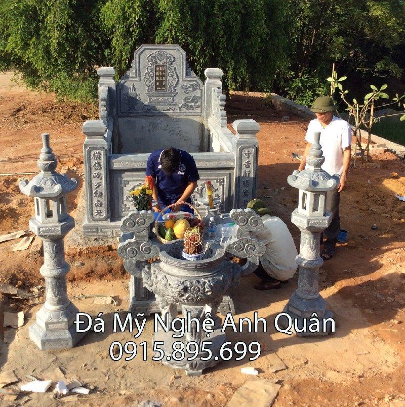 Làm mộ đá Ninh Vân Hoa Lư Ninh Bình