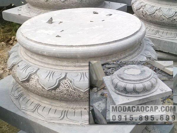 Mẫu chân tảng đá, mẫu Mẫu chân tảng đá phổ biến ở nhà thờ họ, ở chùa, ở đình dùng làm tảng kê cột đá tròn.