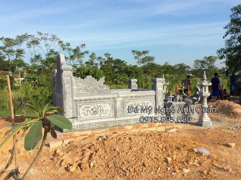 Mẫu mộ đá đẹp Quan Bảng Nhãn Trần Toại