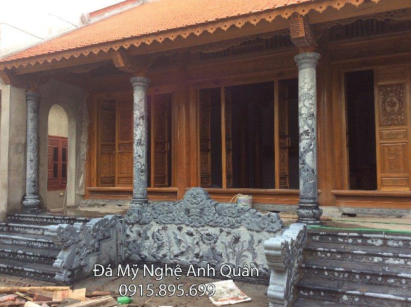 Cột đá nhà thờ tại Ninh Bình, Làm cột đá tại Ninh Vân, Ninh Bình