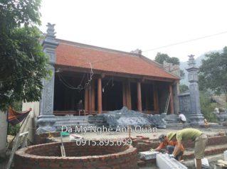Đặt Cột Đá Nhà Thờ Họ, Bậc thềm đá Tại  Tuyên Quang