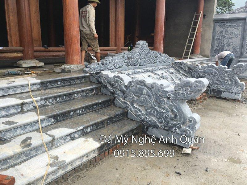 Bậc thềm đá xanh đen, Làm Bậc thềm đá từ Đá xanh nguyên khối tự nhiên UY TÍN và CHẤT LƯỢNG hàng đầu Việt Nam