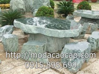 Mẫu bàn ghế đá 9