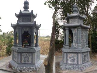 Mẫu mộ đá bát giác 1