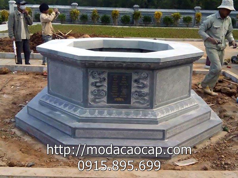 Mẫu mộ đá lục giác 2