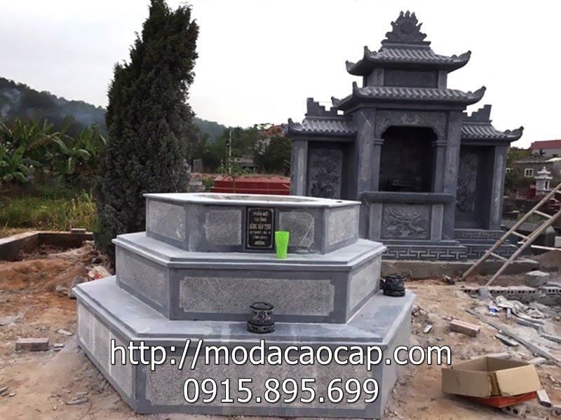 Mẫu mộ đá lục giác 3