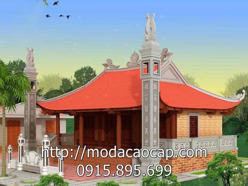 Mẫu nhà thờ họ Đá ĐẸP của Đá mỹ nghệ Anh Quân tư vấn thiết kế và thi công lắp đặt các hạng mục bằng đá cho nhà thờ họ này.