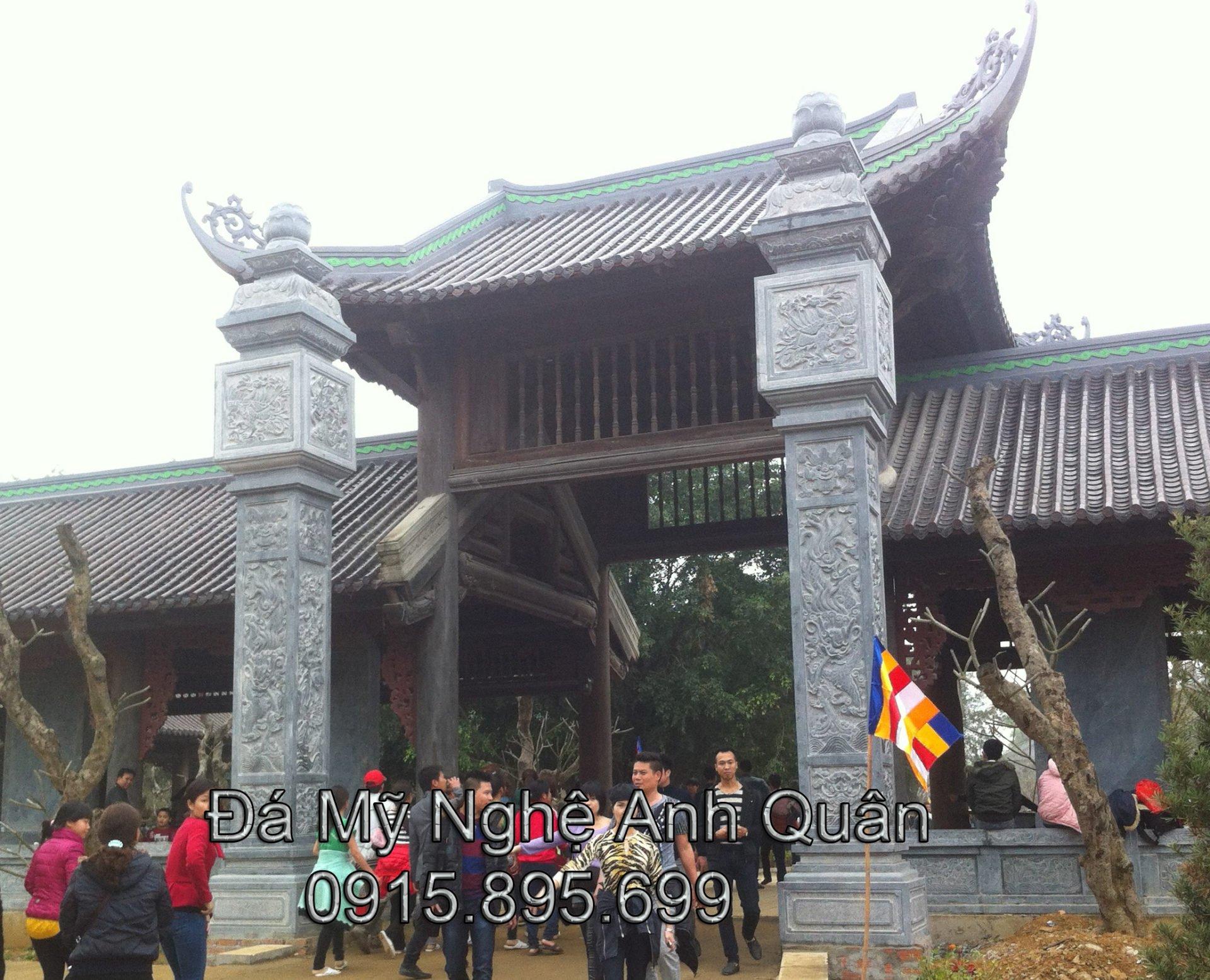 Cột đá ĐẸP - Mẫu Cột đá Vuông ĐẸP tại Ninh Bình.