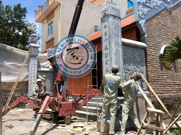 Lắp đặt Cột Đồng Trụ Đá Nhà Thờ Gia Đình Bác Tính – Chợ Dầu