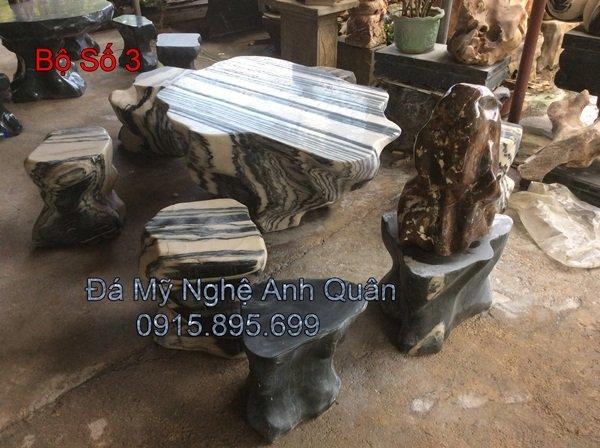 Mẫu bàn ghế Đá ĐẸP 3