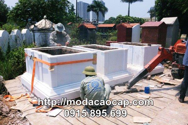 Mau mo da DEP Anh Quan - Đây là một trong những ngôi mộ được đánh giá là Mộ đá đẹp của Đá mỹ nghệ Anh Quân - Ninh Vân, Ninh Bình