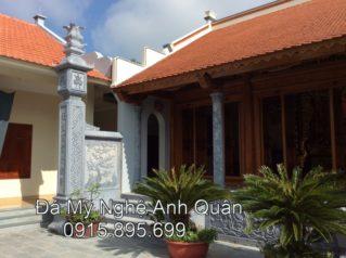 Cột đá đồng trụ cho Nhà thờ tổ