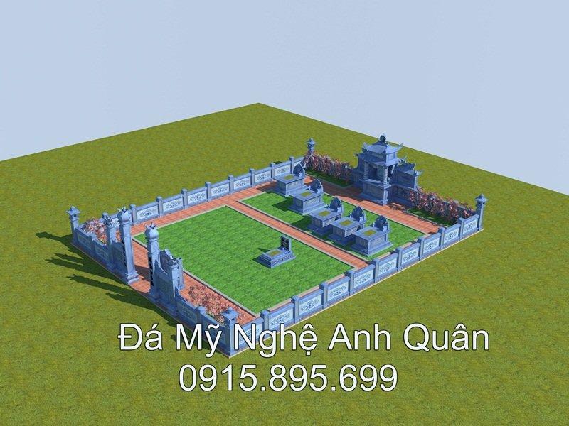 Mau thiet ke Lang mo da Ninh Binh