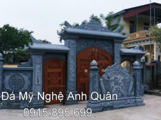 Lắp đặt Cổng Đá cho nhà thờ họ Ngô Doãn – Quỳnh Côi – Thái Bình