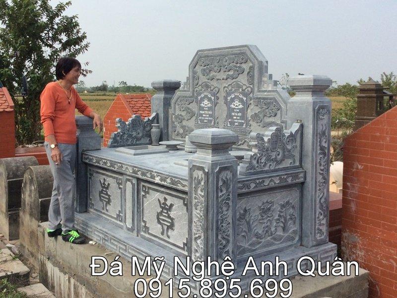Lắp Đặt Ngôi Mộ Đá Đôi Cho Gia Đình Chú Tuấn – Tràng Sơn – Thạch Thất