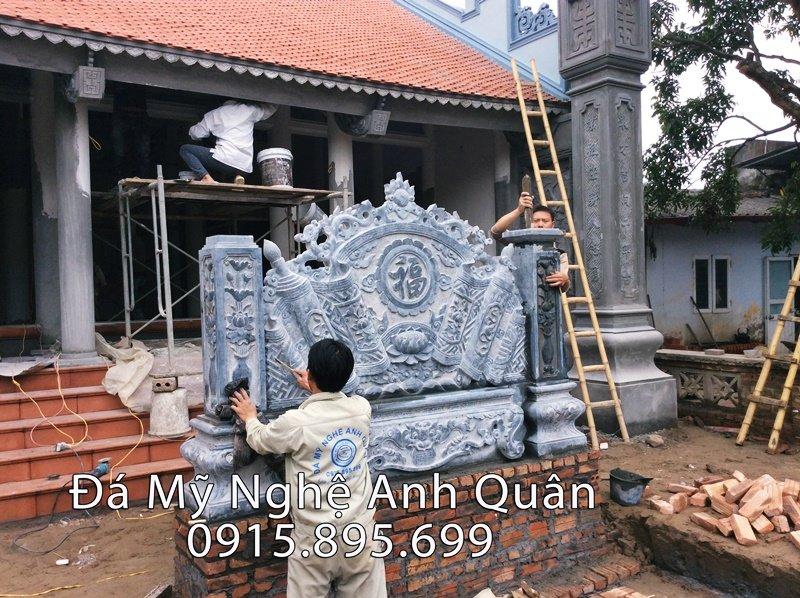Cuốn thư đá ĐẸP năm 2018 do Đá mỹ nghệ Anh Quân chế tác, lắp đặt cho Nhà thờ họ tại Hưng Yên năm 2017