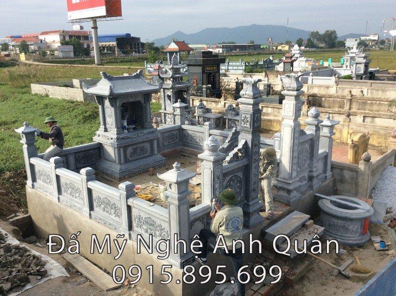 Lăng mộ đá đẹp do đá mỹ nghệ Anh Quân chế tác