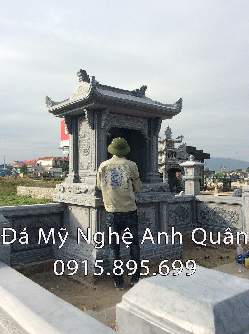 Lăng thờ bằng đá xanh nguyên khối tự nhiên