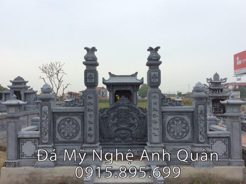 Mẫu mộ đá đẹp Ninh Bình do Đá mỹ nghệ Anh Quân chế tác, thi công, lắp đặt