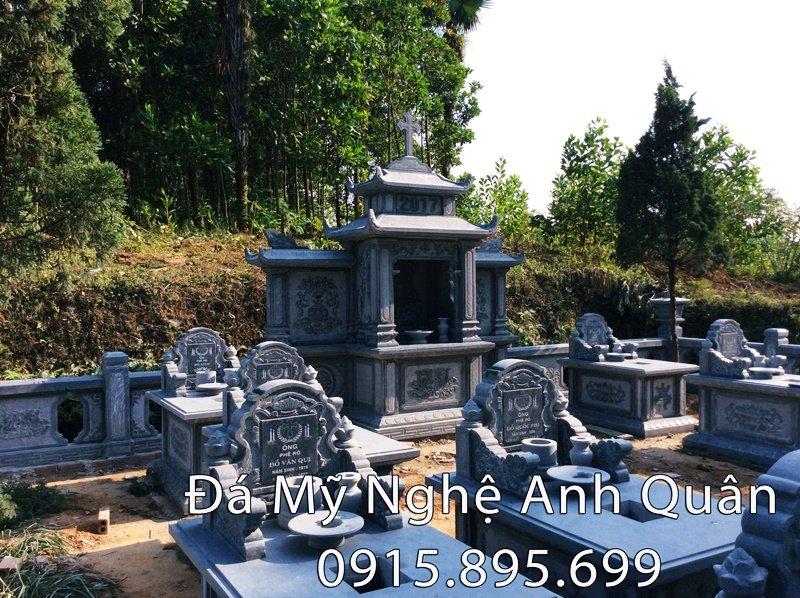 Lăng mộ đá ĐẸP- Mẫu lăng mộ bằng đá khá phổ biến hiện nay, được Đá mỹ nghệ Anh Quân chế tác lắp đặt cho gia đình nhà Anh Hoàn Phú Thọ