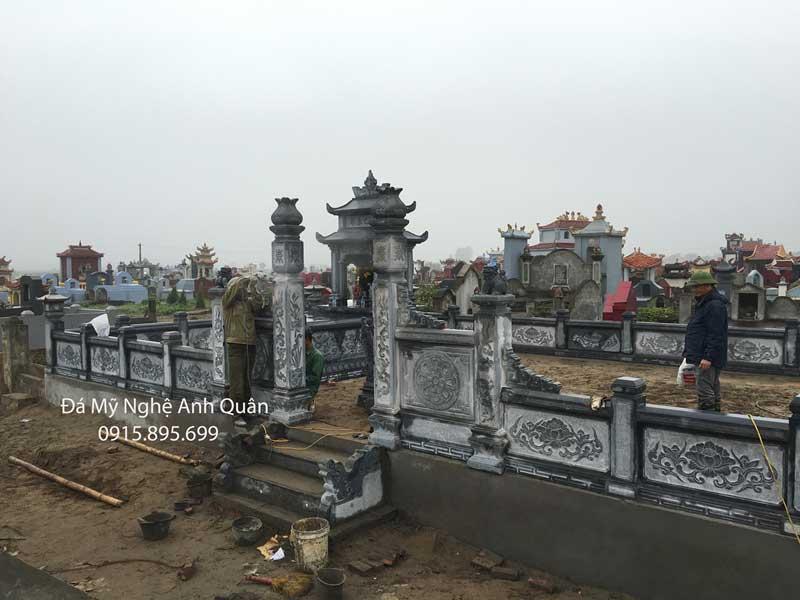 Khu lang mo dep co Lan can da DEP do Anh Quan - Ninh Binh