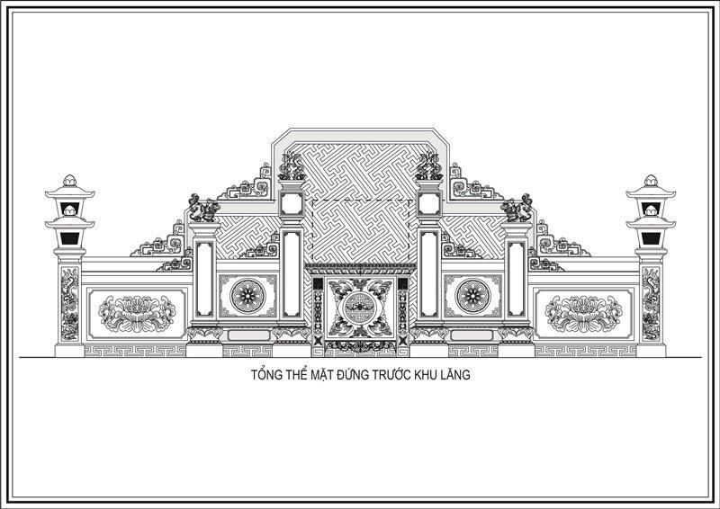 Thiết kế khu lăng mộ