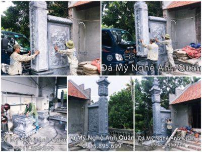 Mẫu Cột đá ĐẸP nhà thờ họ nhà Anh Tuấn (Hải Phòng)
