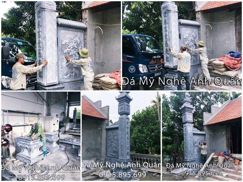 Cột đá ĐẸP, Cột đá Vuông, Cột đá đồng trụ Nhà thờ họ tại Hải Phòng