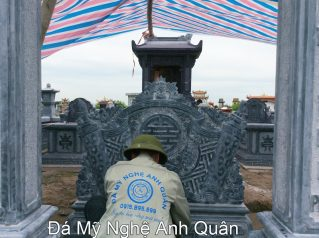 Mẫu cuốn thư đá ĐẸP nhà Bác Quân ở Hà Giang