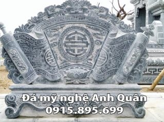 Mẫu cuốn thư đá ĐẸP nhà Chú Khôi ở Hà Nam