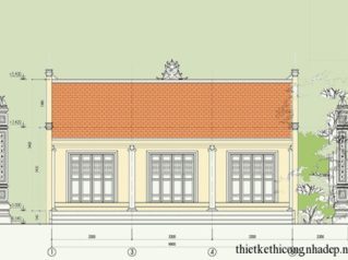 Bản vẽ thiết kế chi tiết nhà thờ họ Vũ Ninh Bình