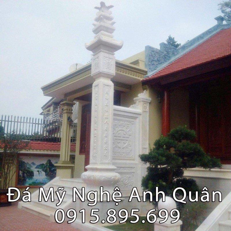 Cột đá đồng trụ Nhà thờ ĐẸP bằng đá vàng tự nhiên nguyên khối