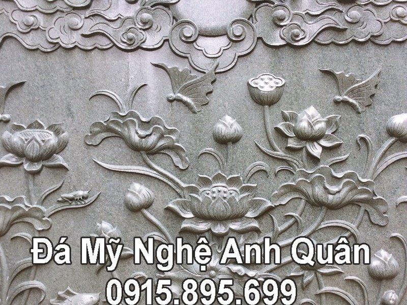 Chiếu đá Hoa SEN khắc CNC đẹp