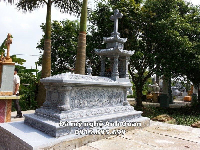 Mộ công giáo đá phổ biến hiện nay