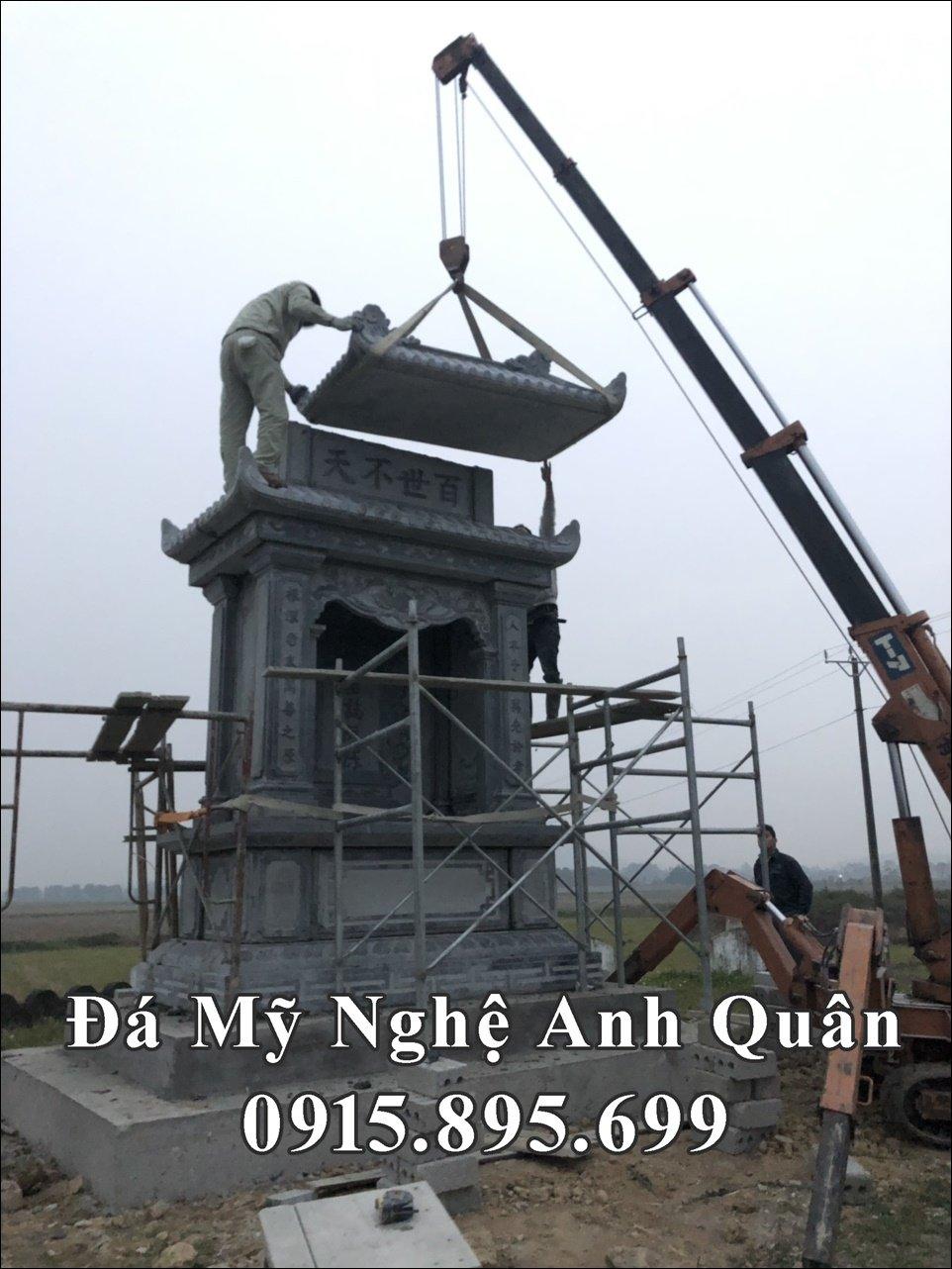 Thi cong lap dat Lang mo Dep ho Nguyen Tran