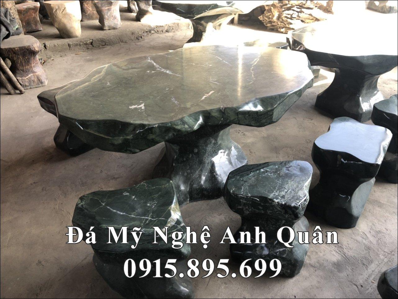 Bán bàn ghế đá nguyên khối tự nhiên đẹp