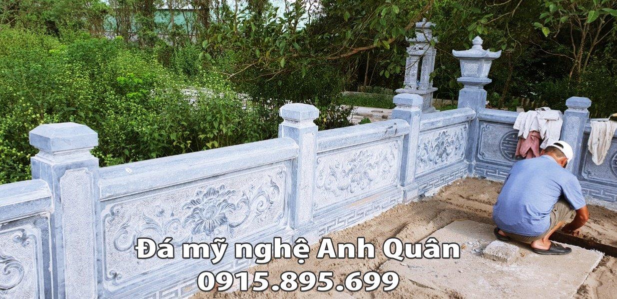 Lan can da khu lang mo tai Nam Dinh