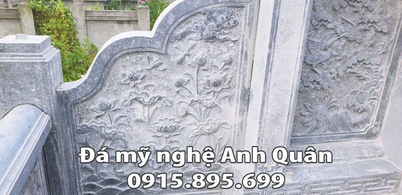 Hoa văn lăng cánh của Lăng thờ đá đẹp tại Nam Định