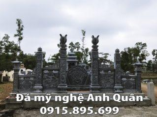 Khu lăng mộ đẹp bằng đá nguyên khối nhà Bác Khánh việt kiều Canada