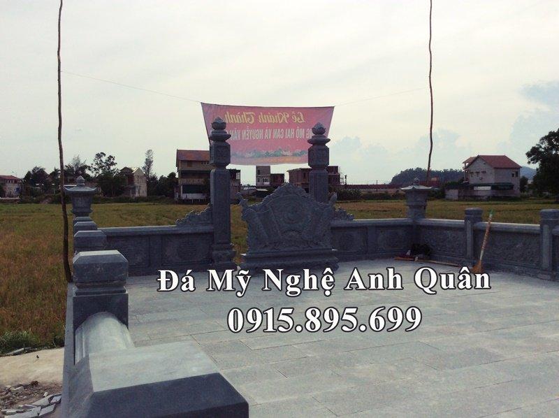 Khuôn viên Lăng mộ đá họ Nguyễn Văn