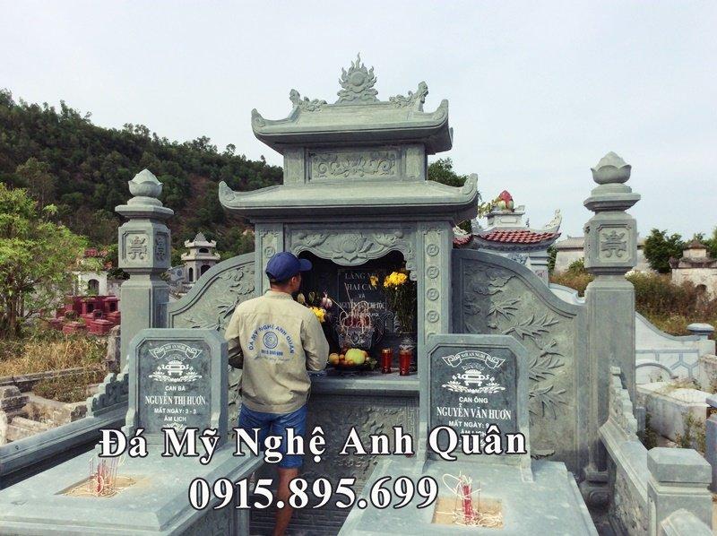 Khu lăng thờ đá xanh rêu họ Nguyễn Văn tại Nghệ An
