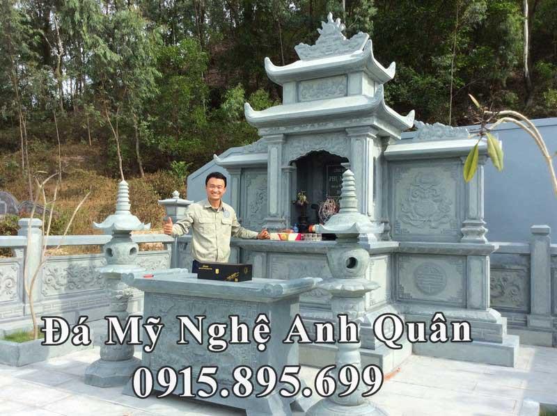 Khu lăng mộ đá xanh rêu cao cấp của gia đình Chủ tịch tập đoàn xây dựng Nam Thiên Phú tại Nghệ An